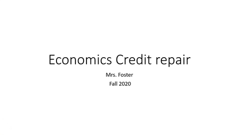 Thumbnail for entry Economics credit repair