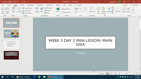 Thumbnail for entry Week 5 Day 2 Mini-Lesson: Main Idea