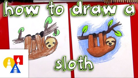 Thumbnail for entry How To Draw A Cartoon Sloth