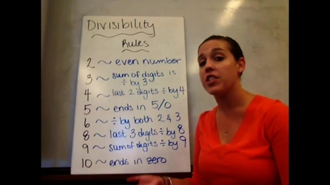 Thumbnail for entry 6th - Sect 6-1 Divisibility