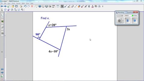 Thumbnail for entry Polygons Question 5, using the sum of exterior angles