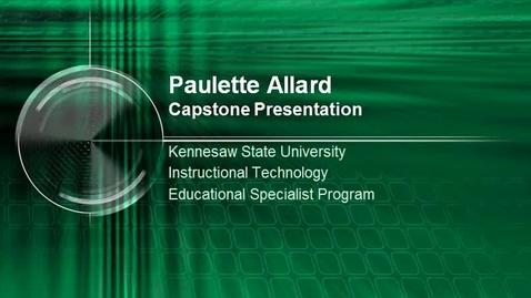 Thumbnail for entry Paulette Allard Capstone Presentation