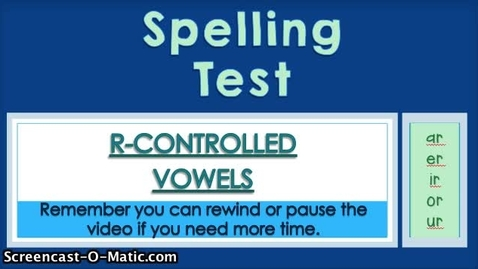 Thumbnail for entry 6.5- R-Controlled Vowels