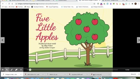 Thumbnail for entry Five Little Apples Read Aloud.mp4