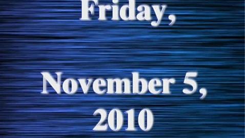 Thumbnail for entry Friday, November 5, 2010