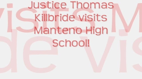 Thumbnail for entry Illinois Supreme Court Justice Visits MHS