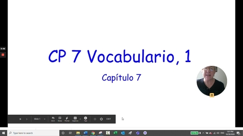 Thumbnail for entry CP 7 VOCAB, 1