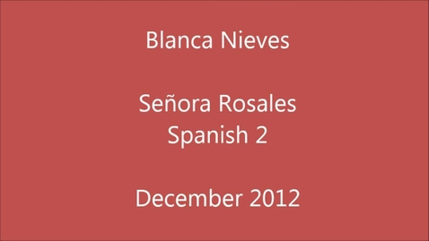 Thumbnail for entry Blanca Nieves Senora Rosales Edisto High