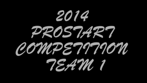 Thumbnail for entry ProStart Competition