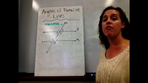 Thumbnail for entry Pre-Alg - Sect 9-2 Angles of Parallel Lines