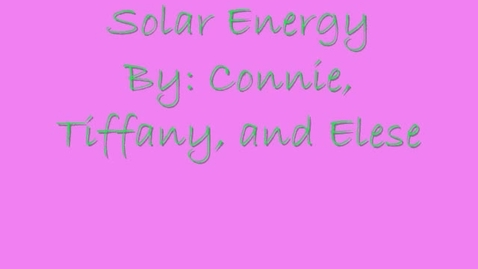 Thumbnail for entry Solar Energy