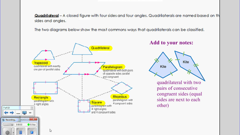 Thumbnail for entry Classifying Quadrilaterals