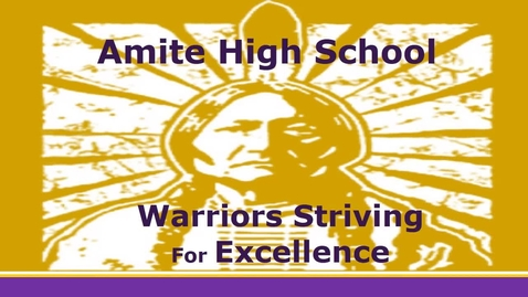 Thumbnail for entry Amite High March 23-27, 2015 Updated