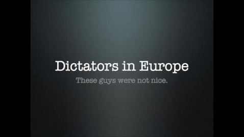 Thumbnail for entry Dictators of Europe After the Great War