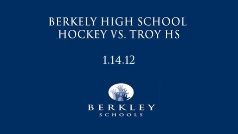 Thumbnail for entry BHS Hockey vs. Troy HS 2012