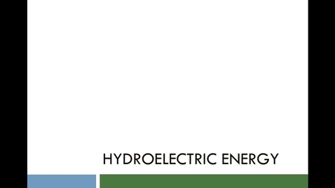 Thumbnail for entry 13D Hydroelectric Energy