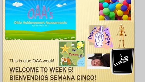 Thumbnail for entry *Revised* Los Colores Video: MS Spanish OAA Week Q4W5 Day 2