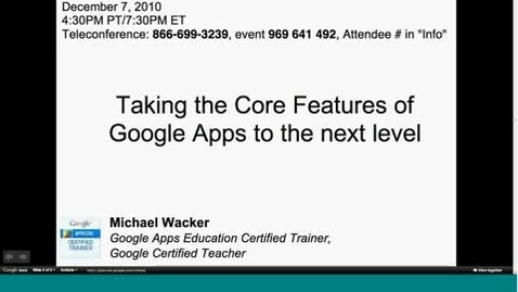 Thumbnail for entry Core Features of Google Docs 2