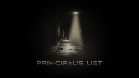 Thumbnail for entry Principal's List First Day of Class