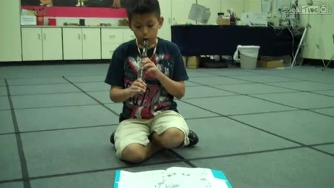 """Thumbnail for entry Joseph T. playing """"High Dive"""" in Mrs.Hendrix music class, Dabbs Elementary, 2011"""