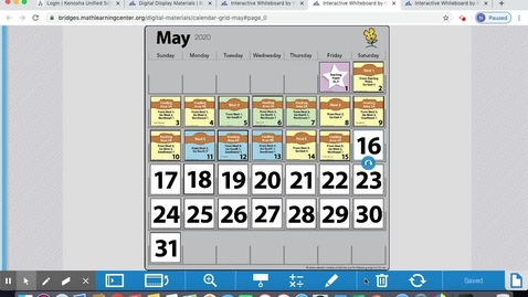 Thumbnail for entry Calendar May 18