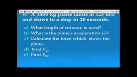 Thumbnail for entry Force Example Problems (WB p66)