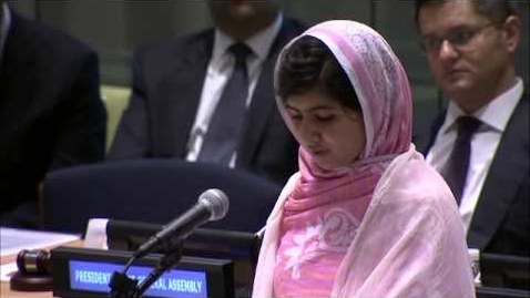 Thumbnail for entry Malala Yousafzai addresses United Nations Youth Assembly 2013