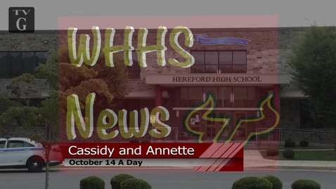 Thumbnail for entry Morning Announcements October 14