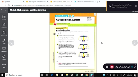 Thumbnail for entry 6 Math Textbook pages 310A-310D Kaltura Capture recording - April 2nd 2020, 1:24:28 pm