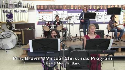 Thumbnail for entry Walsh 2020 Virtual Christmas Prog (JH-HS Modern Band)