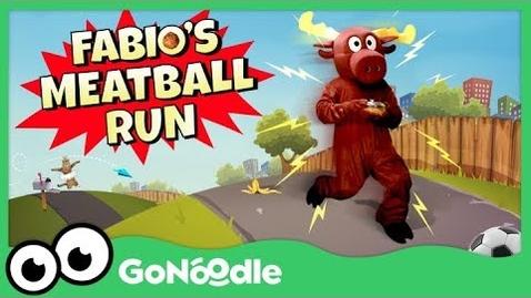 Thumbnail for entry Fabio's Meatball Run - Moose Tube | GoNoodle