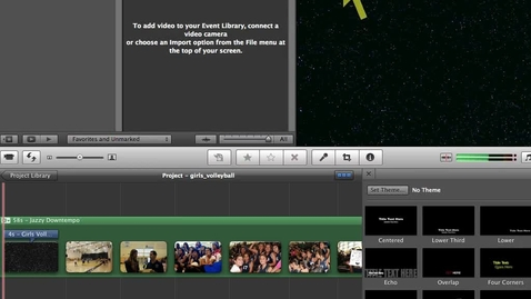 Thumbnail for entry Imovie 11- Adding Transtions