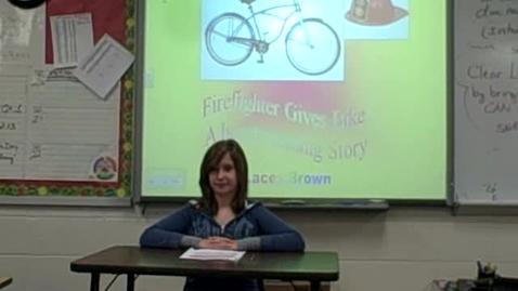 Thumbnail for entry Firefighter Gives Bike