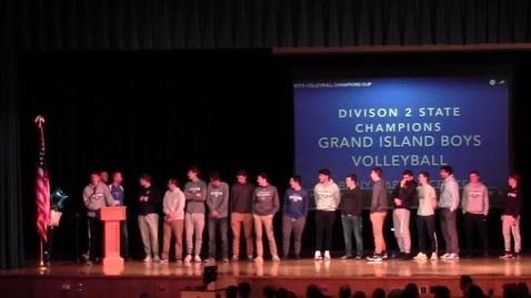 Thumbnail for entry GI Boys Volleyball Celebration Rally 11-26-2019