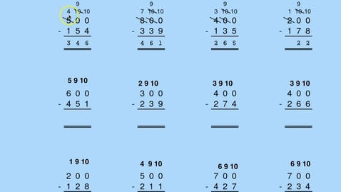 Thumbnail for entry Using complements in subtraction - multiples of 100