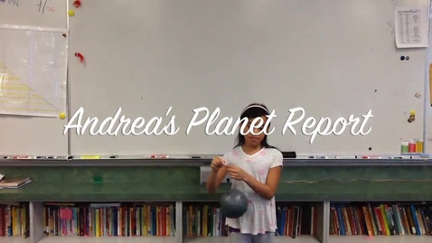 Thumbnail for entry Andrea's Planet Report