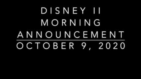 Thumbnail for entry Disney II Magnet High School: Morning Announcements-10.9.2020