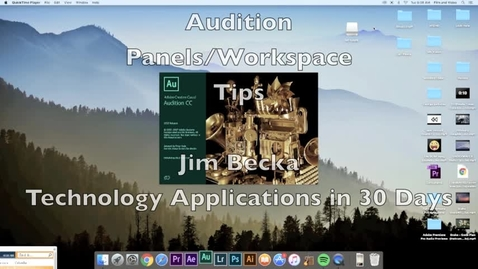 Thumbnail for entry Adobe Audition Panel Workspace Tips