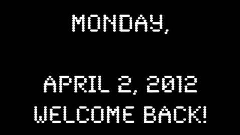 Thumbnail for entry Monday, April 2, 2012