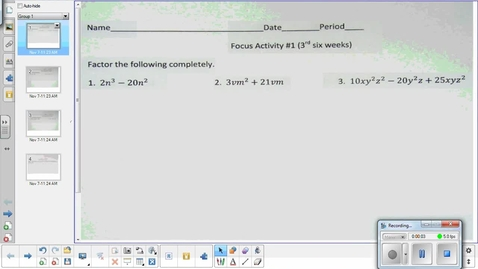 Thumbnail for entry Monomial exponent lesson pt 1   11-10-14
