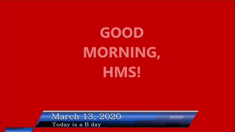 Thumbnail for entry WHMS Morning Show March 13, 2020