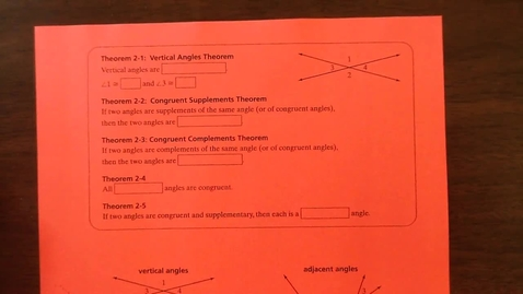 Thumbnail for entry Proving Congruent Angles Notes