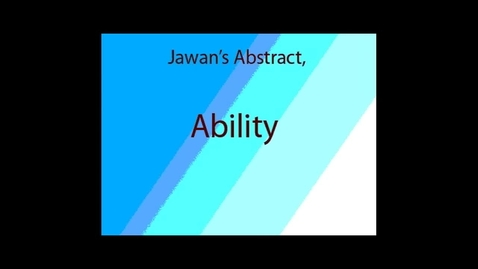 Thumbnail for entry Ability - WSCN Abstract 2012