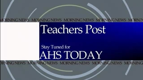 Thumbnail for entry November 29, 2011 AHS Today