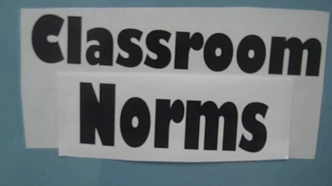 Thumbnail for entry Classroom Norms