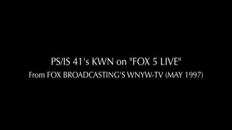 """Thumbnail for entry (1997) NEWS REPORT - KWN on """"Fox5 Live"""""""