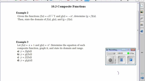 Thumbnail for entry PC30 10.3 Composite Functions