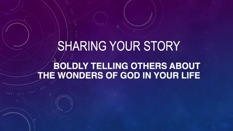 Thumbnail for entry Sharing Your Story