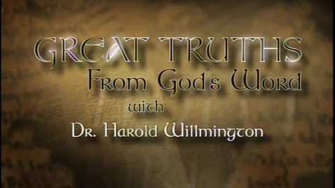 Thumbnail for entry Great Truths - Surveying The Sixty-Six - Haggai