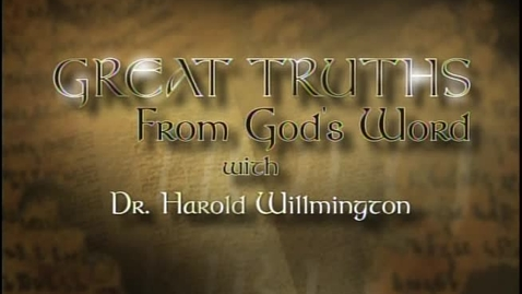 Thumbnail for entry Great Truths - What the Bible Says About Prophecy - Lesson 1 - The Rapture